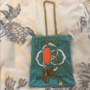 Kendra Scott Rayne Necklace in Orange
